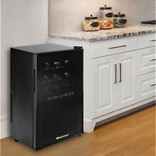 Wine Enthusiast Silent 18 Bottle Dual Zone Touchscreen Wine Cooler  NO TAX
