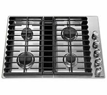 Cooktop Kitchenaid gas cooktop with downdraft exhaust  Brand New