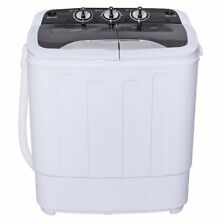 Portable Compact Washer Machine Spin Dryer Clothes RV Electric Dorm Laundry 13lb