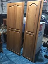 Sub Zero Refrigerator 48  Birch Wood Panels by Corsi in Honey  Parts Only