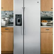 GE APPLIANCES 23 2 CU  FT  SIDE BY SIDE REFRIGERATOR