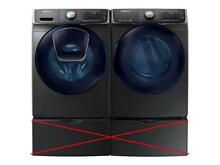 SAMSUNG Front Load Washer   Dryer Black Stainless Set WF45K6500AV DV45K6500EV