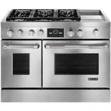 JENN AIR 48  Electric Griddle Pro Style Stainless Dual Fuel Range JDRP548WP