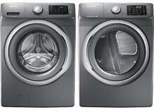 SAMSUNG Platinum Front Load Washer   Dryer Set WF42H5200AP DV42H5200EP