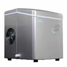 Portable Ice Maker NewAir Kitchen Outdoors Black Red Silver 3 Settings Party