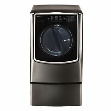 LG DLGX9501K LG SIGNATURE 9 0 Mega Capacity TurboSteam Gas Dryer in Black