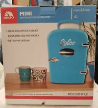 Igloo Mini Beverage Refrigerator  6 Can 4L Capacity   Blue Retro  NIB   7A