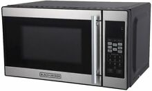 Black Decker Kitchen Appliance 0 7cu Ft  700 Watt Microwave Oven Stainless Black