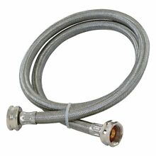 Washing Machine Hose 3 4 Inch Fht X 3 4 Inch Fht X 10  Length Stainless Steel