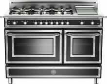 Bertazzoni Heritage Series 48 Inch Traditional Style Blk Gas Range HER486GGASNE
