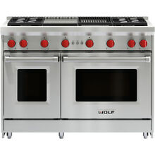 Wolf GR484CG LP 48  Gas Range w 4 Burners  Infrared Grill and Griddle in Propane