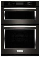 KitchenAid 30  Combination Wall Oven with Even Heat True Convection KOCE500EBS