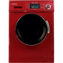 1 6 cu  ft  Compact Combo Washer and Electric Dryer with Red