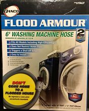 2 Pack  Danco Flood Armour 6  Washing Machine Hoses  3 4  FHT X 3 4  FHT