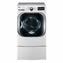 LG DLGX8101W 9 0 cu  ft  Mega Capacity Gas Dryer w  Steam  Technology in White