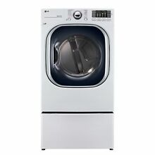 LG DLGX4371W 7 4 cu  ft  Ultra Large Capacity TurboSteam Gas Dryer in White