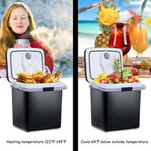 26L Home Travel Car Electric Cooler Mini Fridge Food Warmer Camping Black New