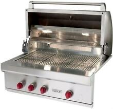 NIB Wolf 36  25 000 BTU Burners LED Knobs Built in Stainless Gas Grill OG36LP