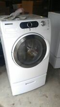 Samsung Electric Washer  Dryer   Pedestals Set