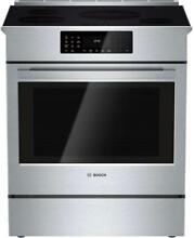Bosch 800 DLX 30  4 Induction Elements Convection SS Slide In Range HII8055U