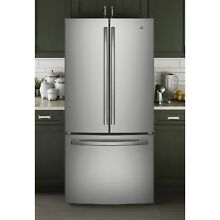 GE Series Energy Star 24 8 cu ft  French Door Stainless Steel Refrigerator