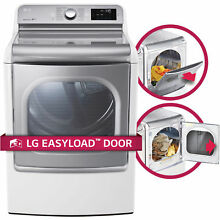 LG DLGX7701WE 9 0 cu ft  MEGA Capacity TurboSteam Dryer with EasyLoad Door in