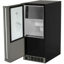 Marvel MPRO30IMTBSLP Pro 15  Clear Ice Maker in Stainless w  Pump  Left Hinge