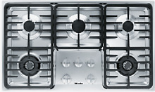 Miele KM3475GSS 36 Inch Stainless Steel Gas Cooktop 5 Burners Linear Grates