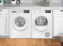 Bosch 300 Front Load WHT Washer Dryer set Stacking Kit WAT28400UC   WTG86400UC