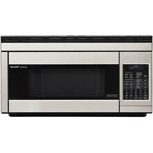 Sharp 1 1 cu  ft  Over the Range Convection Microwave Oven