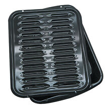 Range Kleen Black Porcelain Metal Broiler Pan with Grill