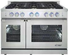 Dacor Renaissance 48  6 Sealed Burners SS Freestanding Gas Range RNRP48GSNG