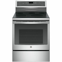 GE Profile Series Stainless Steel 30 in Free Standing Electronic Convection