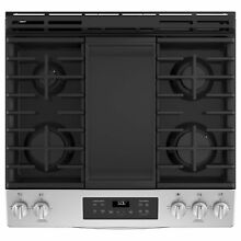 GE 30  Slide In Front Control Gas Range