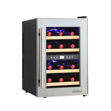 Element by Vinotemp 12 bottle Dual zone Thermoelectric Mirrored Wine Cooler