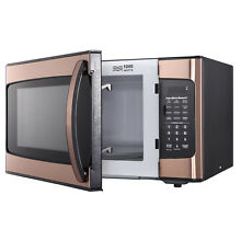 Hamilton Beach 1 1 cu ft Microwave Oven  Copper 1000 Watt Countertop Free Ship