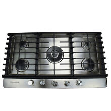 30 in  Gas Cooktop in Stainless Steel with 5 Burners Including a Tri Ring Power