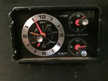 GE Hotpoint Vintage Stove Oven Clock Timer 148T099P07 Black Knobs 148T142P01