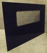 296472 Whirlpool Range Stove Black Outer Oven Door Glass