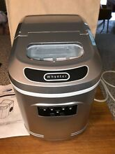 Home Digital Control Compact Portable Ice Maker with Scoop Works Great Used