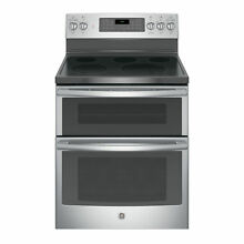 GE Black 30 inch Free standing Electric Double Oven with Convection Range