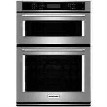 KitchenAid 27  Stainless Electric Built In Microwave Combination Oven KOCE507ESS