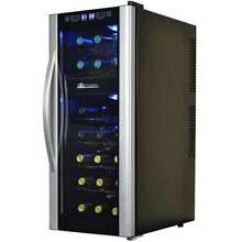 Avalon Bay 21 Bottle Thermoelectric Dual Zone Freestanding Wine Cooler  Used