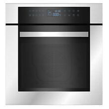 Empava 24  Stainless Steel Electric Single Wall Oven KQC65C 02