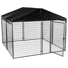 Lucky Dog 6 H x 10 W x10 L Black Modular Welded Wire Kennel with Kennel Cover