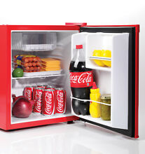 Coca Cola 1 7 Cu Ft Refrigerator With Freezer Compartment For Dorm or Office
