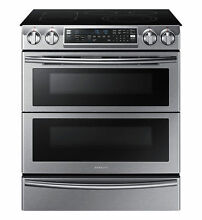 Samsung NE58K9850WS 30  Flex Duo Slide in Electric Convection Range  NE58K9850WG