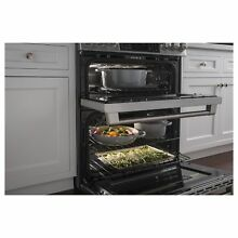 GE Caf  Series 30  Slide In Front Control Dual Fuel Double Oven with Convection