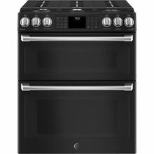 GE Caf  Series 30  Slide In Front Control Gas Double Oven with Convection Range