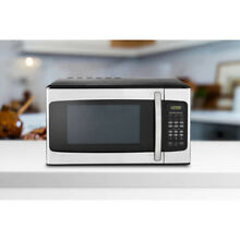 Hamilton Beach 1 1 cu ft Stainless Microwave for dorm  college  kitchen  cabin